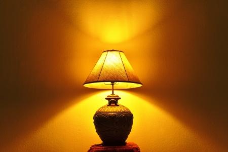 A beautiful lamp shining