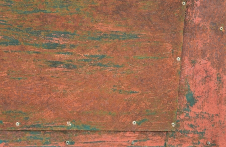 Grunge background of scratched old door steel plate  photo