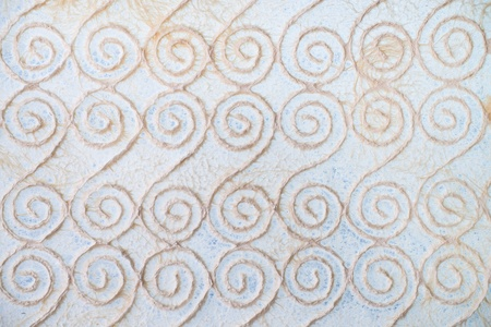 kink: Pattern of twist lines mulberry paper