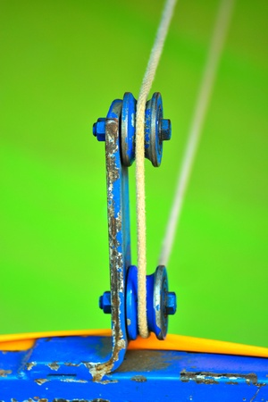 pulley: Pulley of target shooting  Stock Photo