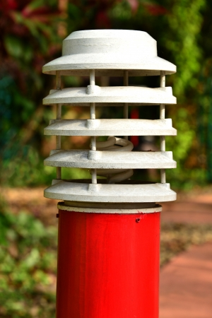 street lamp: White and red garden lamp