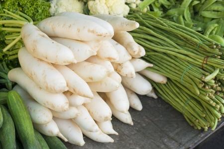 Daikon radijs en groenten