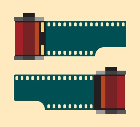Vintage camera film roll, Illustration  Vector