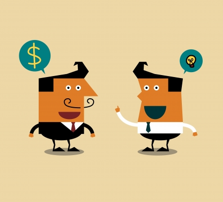 Businessman talking about business,  Illustration