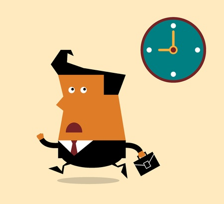 Businessman Deadline Time, Illustration  Vector