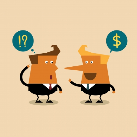 Liar businessman, business concept Vector