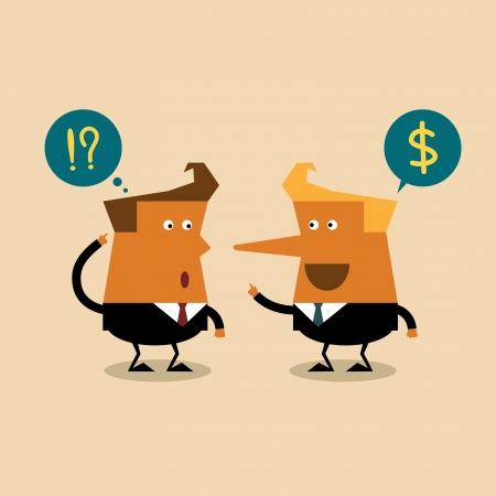 fib: Liar businessman, business concept Illustration