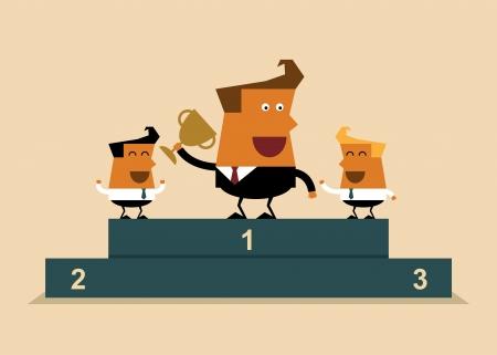 Winner team, business concept