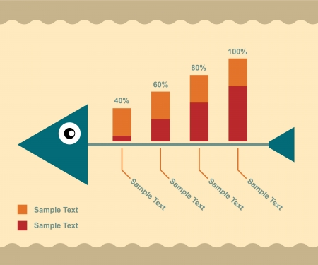 Fish bone Infographic   Vector
