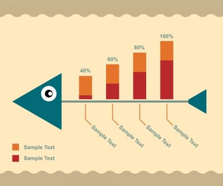 fish bone: Fish bone Infographic