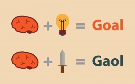 goed idee: Goed idee met slecht idee, concept van het idee Stock Illustratie