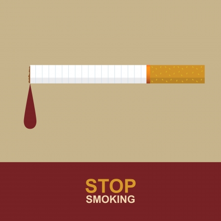 quit smoking: Stop Smoking Illustration