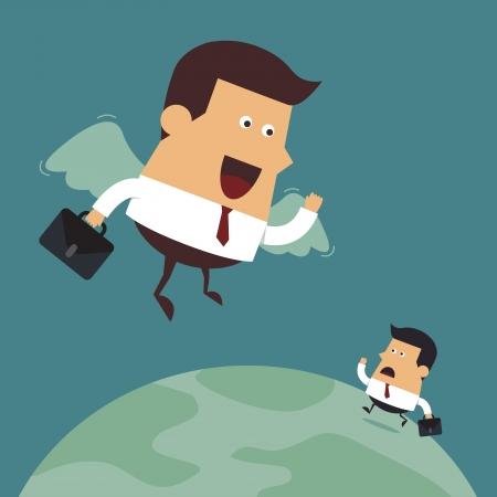 Business Leader, Business concept Ilustracja