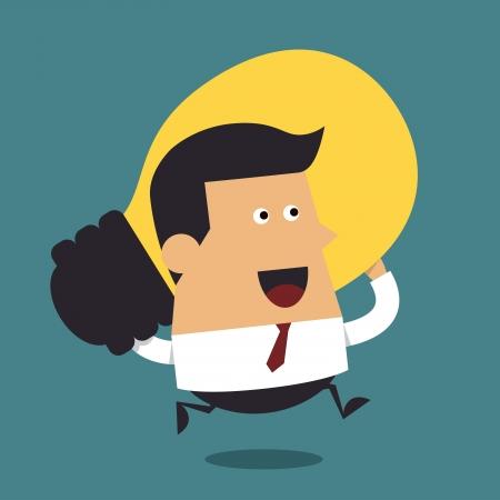 Uomo d'affari con una grande idea, concetto di business creativo Archivio Fotografico - 22273699