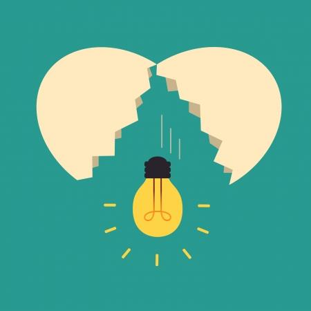 전구 아이디어와 깨진 달걀, 아이디어 개념