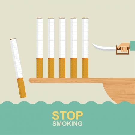 lungenkrebs: Aufh�ren zu rauchen, Idee Konzept Illustration