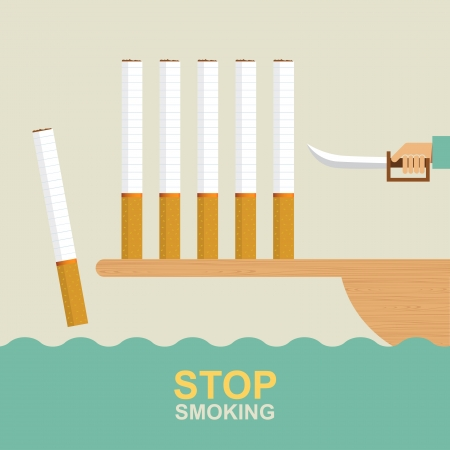 smoking stop: Stop smoking, Idea concept Illustration