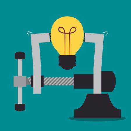 Strong light bulb idea, Idea concept Vector