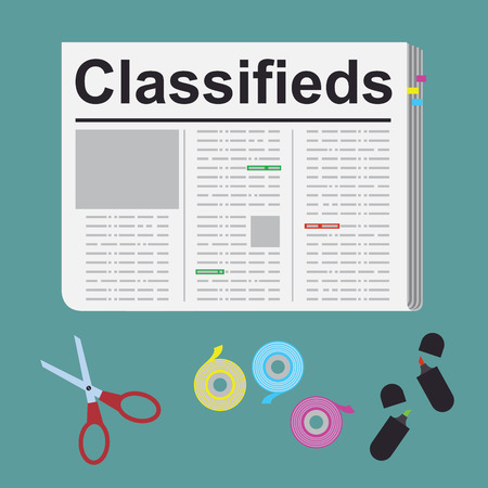 classified ads: Finding a job, Illustration