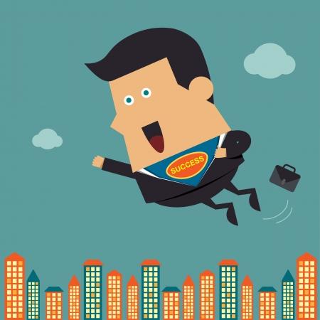 in action: Flying héroe de negocios, Idea de negocio