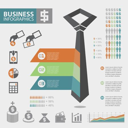 minus: Business infographic elements
