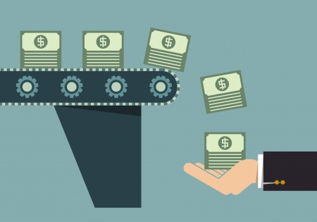 El dinero que hace la máquina, Idea de negocio Foto de archivo - 23718682
