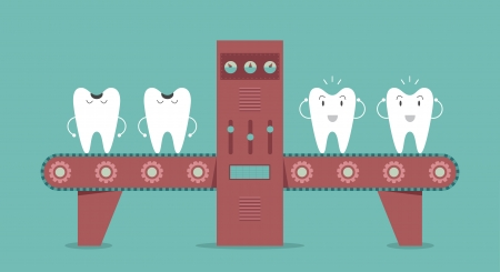 pediatric: Dental machine, Idea concept Illustration