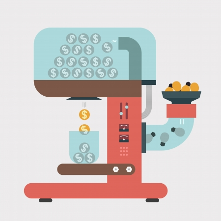 Money making machine, Business idea Vector