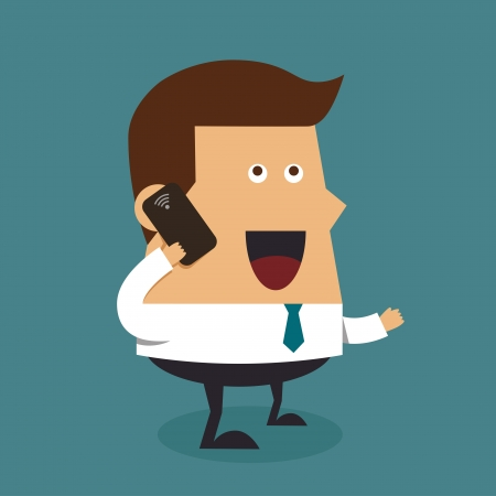 Young businessman with cellphone  Vector