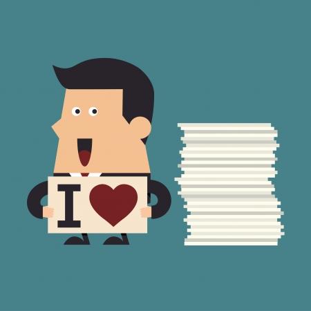 Ik hou van mijn werk, Business concept Vector Illustratie