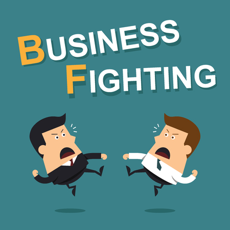 Business fighting, Business concept Ilustracja