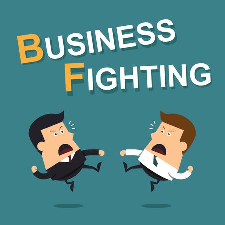 Business fighting, Business concept Illusztráció