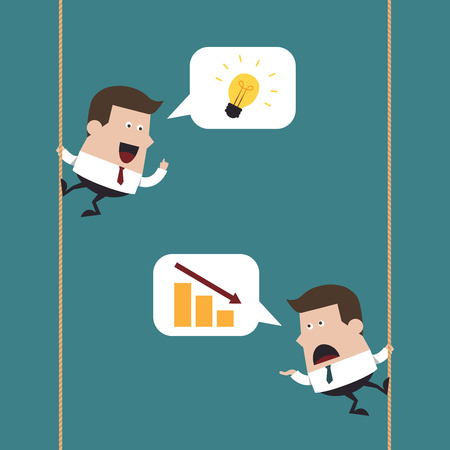 hold up: Businessmen talking, Business idea