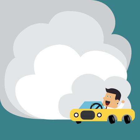 Car Drifting Illusztráció