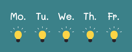 Idea Light Bulbs With Words, Business concept