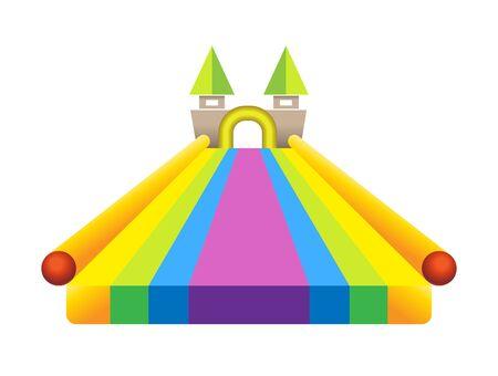 Vector of balloon palace for kid Ilustracja