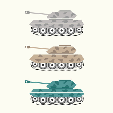 vehicle combat: Vector of tank Illustration