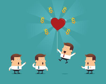 Perfect employee, business concept Ilustracja