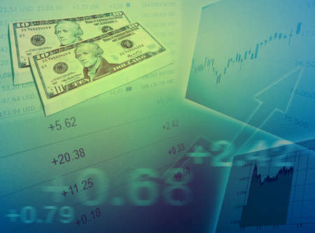 Abstract stock market chart background