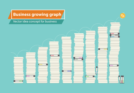 Business growing graph, Vector idea concept for business report design.