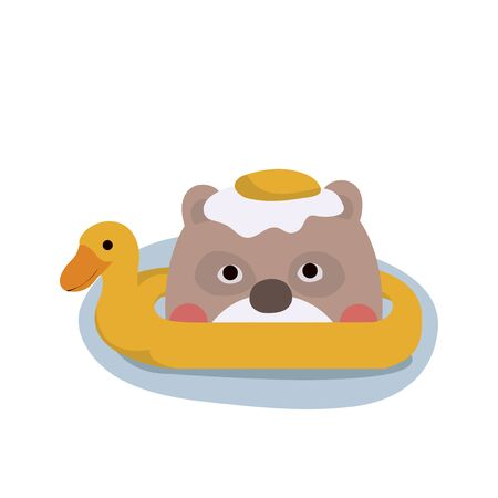 Cute Animal Vector illustration. Cute Animal Vector illustration. Fun zoo. Illustration of cute bear. Vettoriali