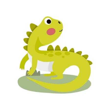 Cute Animal Vector illustration. Cute Animal Vector illustration iguana. Vettoriali