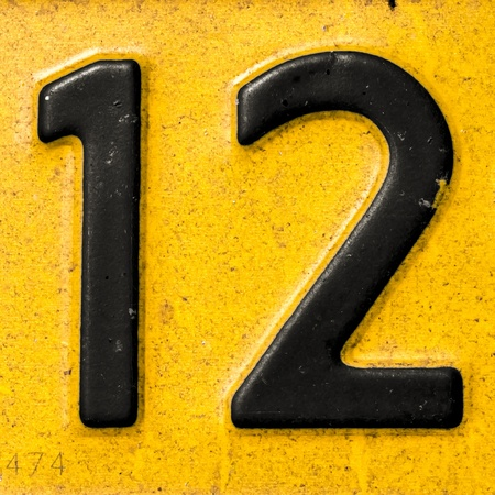 number 12: Number 12 Stock Photo