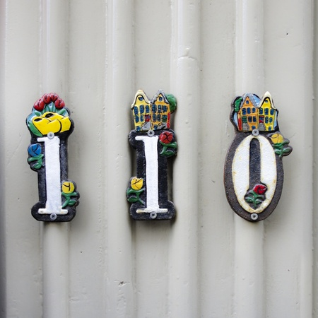 cast in place: House number 110 with funny ornaments