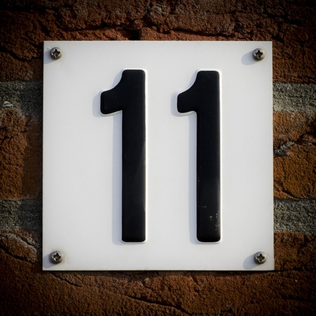 eleven: house number eleven Stock Photo