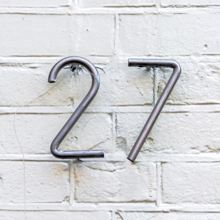 number two: Stainless steel house number twenty seven
