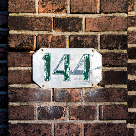 four in one: weathered house number one hundred and forty four