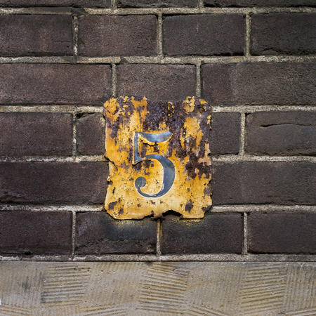 weathered: weathered house number five