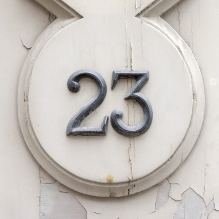 bronze house number twenty three