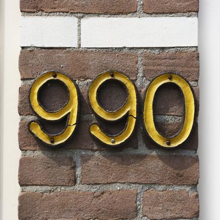 numero nueve: n�mero de casa cer�mica novecientos noventa